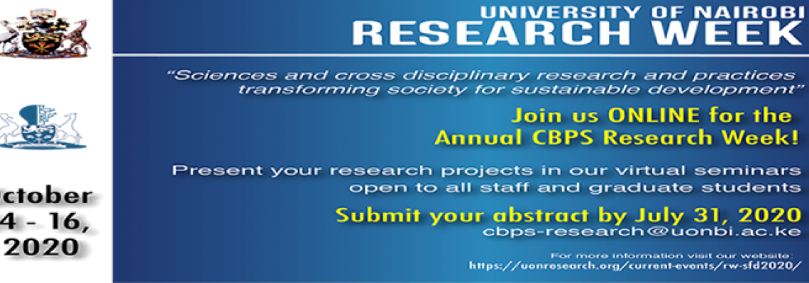 Annual Research Week 2020_Science for Sustainable Development